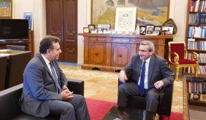 Συνάντηση του Περιφερειάρχη με τον βουλευτή Μάνο Κόνσολα
