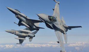 Εφτά Τουρκικά F 16 και ένα ελικόπτερο, πάνω από τα νησιά