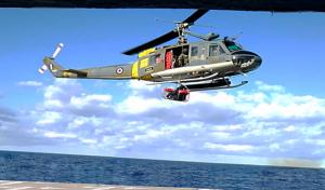 Επιχείρηση ελικοπτέρου για μεταφορά ασθενή από κρουαζιερόπλοιο